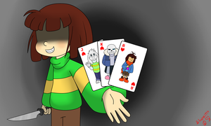 Cards Lined Up by bluejay1995