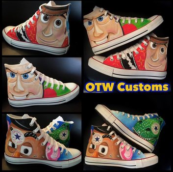 Pixar Toy Story Custom Converse  by VeryBadThing