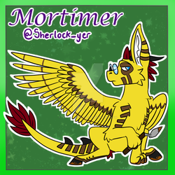 Mortimer - telegram stickers cover art by trenchcoats-and-pie