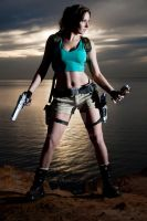 Lara Croft Sunset by JennCroft