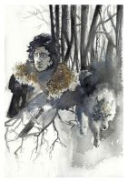 Jon Snow - Game of Thrones by joelsaavedra