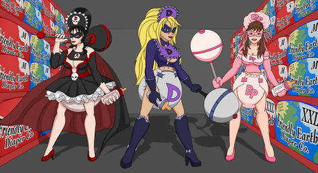 [Commission] Babified Heroines by DLOddball