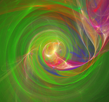 green abstract, heartbeat by duf20