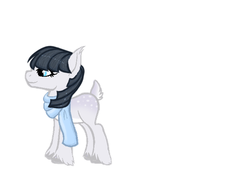 Deer Pony Winter White OPEN by Hollena