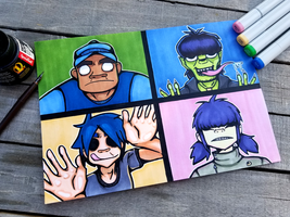 +The Gorillaz+ by madhouse-arts