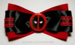 Deadpool Hair Bow by SarahsPlushNStuff