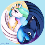 Sun and Moon Ying Yang by ASinglePetal