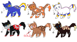 Cat Adoptables 1 *2 Left!!!* by LuxaAdoptables