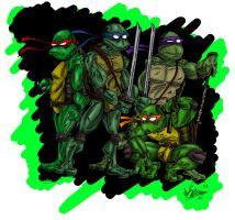 Ninja Turtles by OuthouseCartoons
