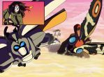 Mecha Hummer and Mothra by LittleMissSkuld