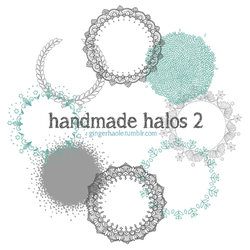 Handmade Halos 2 brush set by lily-fox