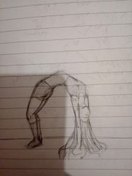 Sketch : Girl who is doing a backbend by sirisse