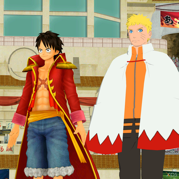 Pirate King and Seventh Hokage by Hatredboy