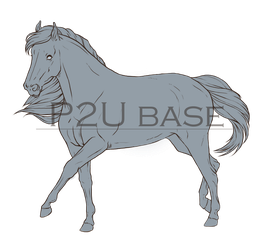 - P2U Mare lineart - by The-Melancholy-Virus