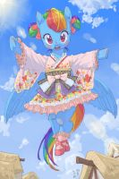 J-Lolita Rainbow Dash by Yanamosuda