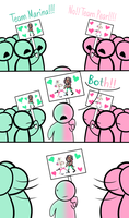 Team Marina VS. Team Pearl (Comic) by ToasterBoaster