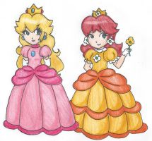 Peach and Daisy by VioVi