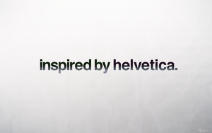 inspired by helvetica by kevinandersson
