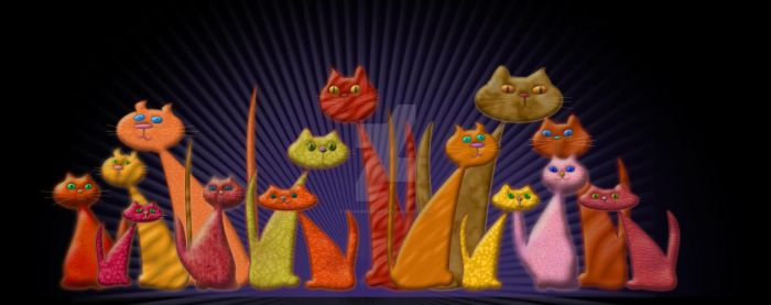 the vector cats by penngregory