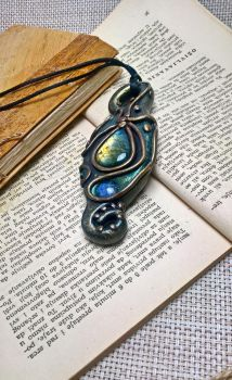 Labradorite and Moonstone pendant by WhisperJack