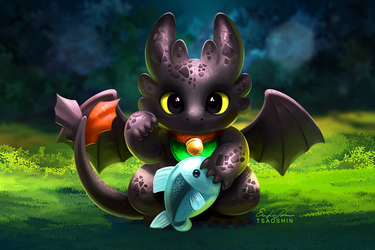 Maneki Toothless by TsaoShin