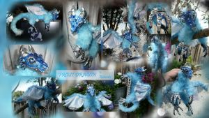 Posable Frost Dragon Doll by Eviecats