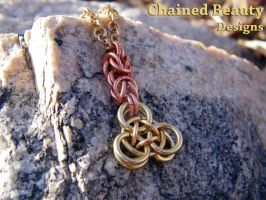 Pyramid Chain Pendant by ChainedBeauty