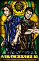 Sam and Dean Winchester ( Supernatural ) by BlackIvoryy