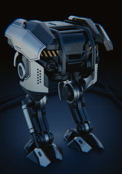 Mech design in Blender by JoseConseco
