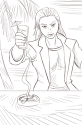 Drinking in Style - Paladin-Ciel Sketch by AnthroMan106