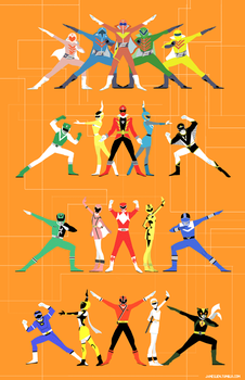 Super Sentai by fooshigi