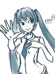 Miku sketch by Absolaaron