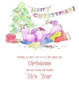 Hippo christmas card by entanglement