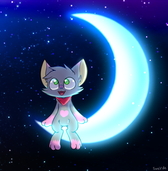 Yumi on the moon by sweirde