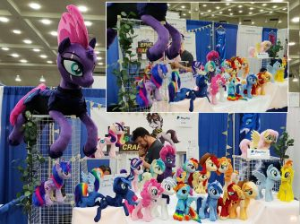 Bronycon 2018 - our booth! by Epicrainbowcrafts