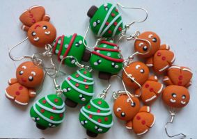 Christmas Time Earrings by LaBotteghilla