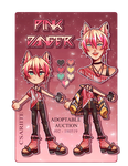 auction closed|| pink danger by csariite