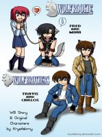 Chibies Wolf Brothers and Wolf Rookie by krystlekmy