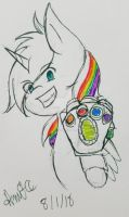 Random drawing: Blissy with The Gauntlet by FaithStar1121