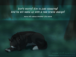 I'm just sleeping- NEWS ABOUT ANOTHER LIFE! by TheDarkHyena