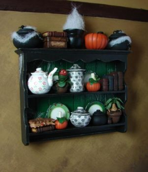 1:12 Miniature Witch's Shelf by NJD-Miniatures