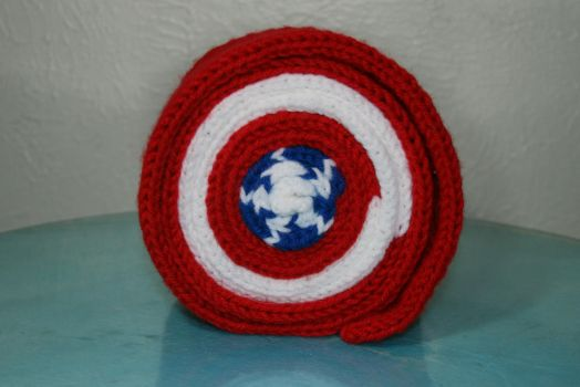 Captain America Roll Up Scarf by TexasRollMafia