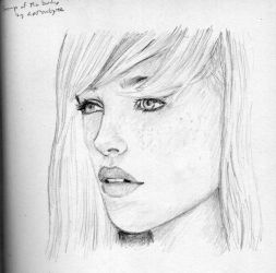 Sketch, girl's face. by dashinvaine