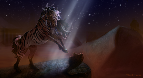 Commission - On the dangerous night sands by Tibet-Lama