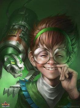 Pidge and Green Lion by JoshBurns