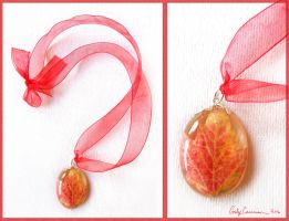 Autumn Maple Leaf Necklace by EmilyCammisa