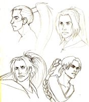 Fujin head sketches by Doublevisionary