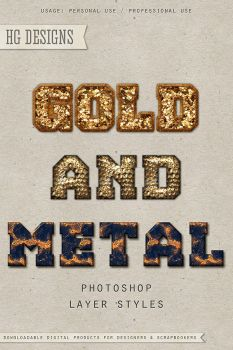 PS Style: Gold And Metal by HGGraphicDesigns