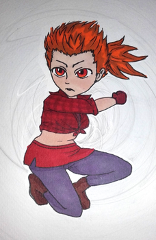 30 characters challenge : #5. Fighter by Kitten-Draws
