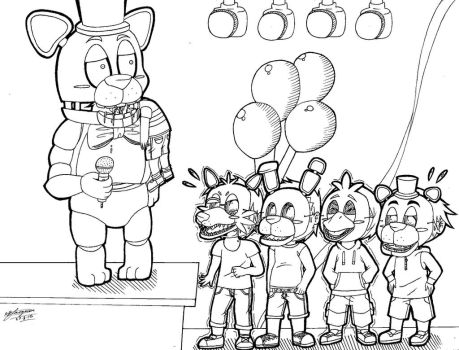 FNAF Chibi Bite of 87 (Lineart.) :3 by ShannonxNaruto